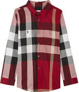 Burberry Camber checked cotton shirt 4-14 years