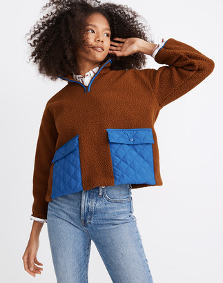 Madewell (Re)sourced Fleece Quilted-Pocket Popover Jacket