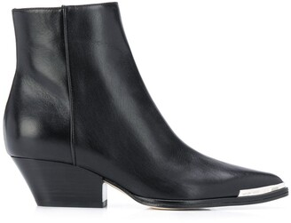 Sergio Rossi Pointed Contrast-Cap Boots
