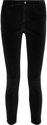 DL1961 Margaux Cropped Stretch-velvet Skinny Pants