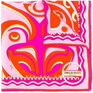Emilio Pucci Psychedelic-Inspired Patterned Scarf