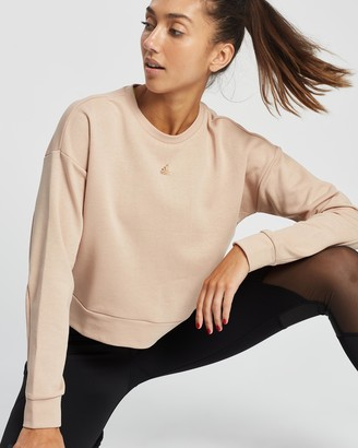 adidas Women's Pink Crew Necks - U4U Crewneck Sweatshirt - Size L at The Iconic