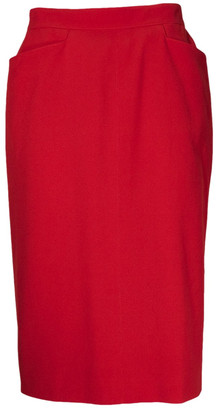Hermes Red Wool Skirts