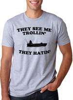 Crazy Dog T-shirts Crazy Dog Tshirts They See Me Trollin T Shirt Funny Fishing Tee Parody Shirt
