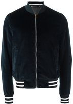 Paul Smith velvet bomber jacket - men - Cotton/Cupro - L