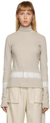 Raquel Allegra Tan Tie-Dye Turtleneck