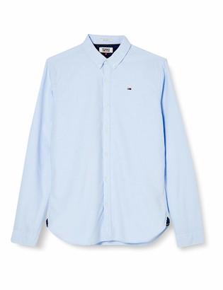 Tommy Jeans Men's TJM Basic Solid Shirt L/S 26 Casual