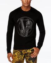 Versace Men's Graphic-Print Logo Sweater