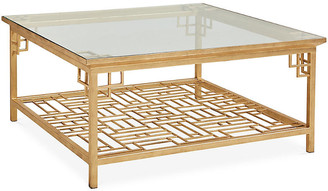 One Kings Lane Larkspur Coffee Table - Antiqued Gold