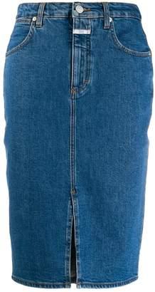 Closed high waisted denim skirt