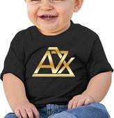 Oxjwn Baby Infant Avenged Sevenfold A7x Gold Logo Cute Short-sleeve Tee
