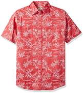 Haggar Men's Big and Tall Short Sleeve Micrographic Prints Woven Shirt