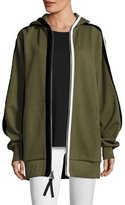 Public School Leta Hooded Oversized Jacket w/ Striped Trim