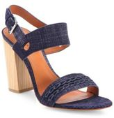 Derek Lam 10 Crosby Mandy Denim Block-Heel Slingback Sandals