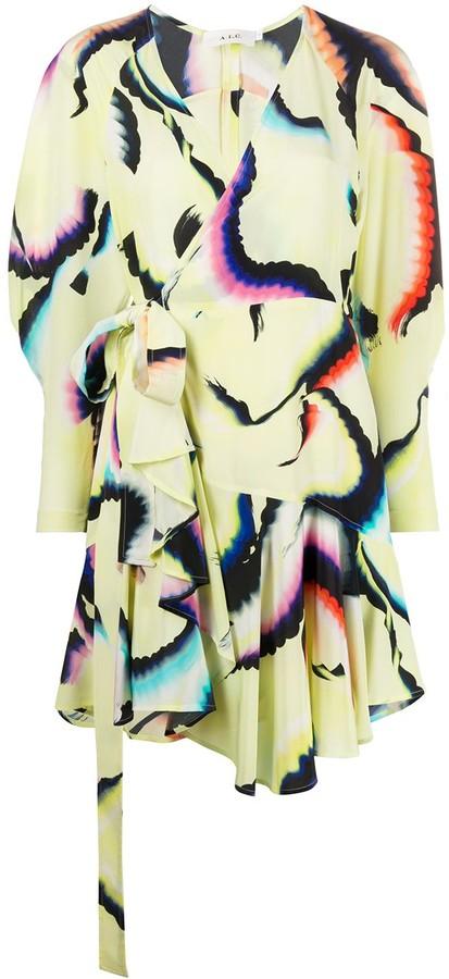 A.L.C. Graphic Print Wrap Dress
