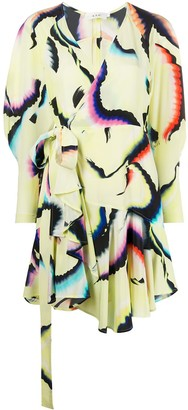 A.L.C. Graphic Print Wrap Dress