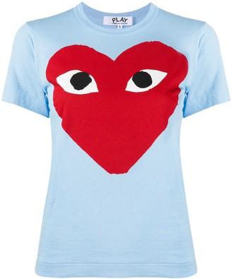 Comme des Garcons heart-print crew neck T-shirt