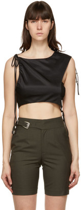 ANDERSSON BELL Black Drape String Sofie Tank Top