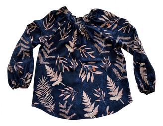 Diane von Furstenberg Blue Silk Tops