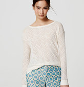 LOFT Refined Chevron Sweater