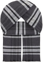 Johnstons Brushed Check Merino Wool Scarf
