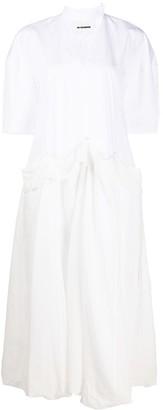 Jil Sander sculptured cotton midi dress
