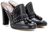 Tabitha Simmons Diana Embellished Leather Mules