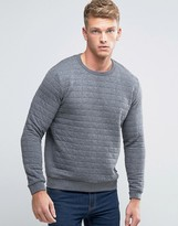 French Connection Crew Neck Quilted Square Sweat Sweater