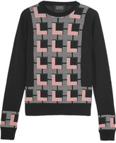 Markus Lupfer Grace Intarsia Wool Sweater - Black
