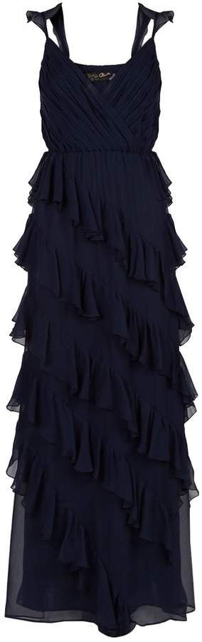 Alice + Olivia Lessie Ruffle Gown
