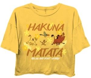 Disney Juniors' Hakuna Matata Cropped T-Shirt