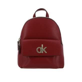 Calvin Klein Backpack Clavin Klein Re-lock Backpack In Eco-leather With Maxi Monogram