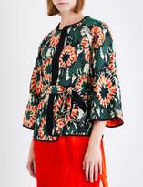Raquel Allegra Cropped woven kimono jacket