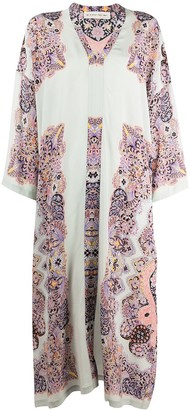 Etro Silk Shift Midi Dress