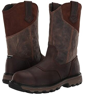 Caterpillar Leeward Steel Toe (Classic Brown Full Grain Leather) Men's Work Boots
