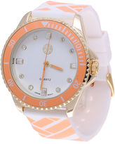 Macbeth Womens Orange and White Silicone Watch