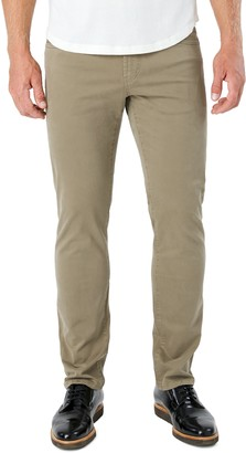 7 Diamonds Clifton Slim Brushed Twill Slim Straight Leg Five-Pocket Pants