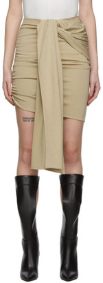 Vejas Beige Dripping Waist Miniskirt