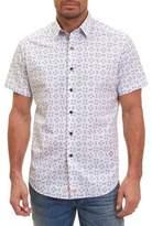 Robert Graham Flip-Flop Short-Sleeve Sport Shirt, White