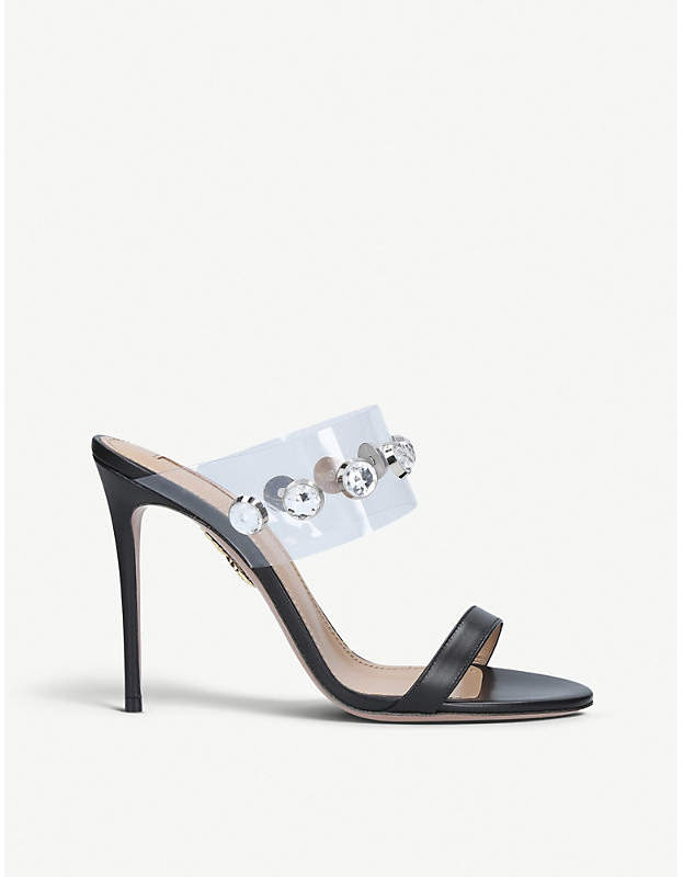 Aquazzura Galaxy 105 leather heeled sandals
