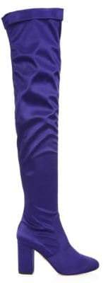 Aquazzura So Me Over-the-Knee Satin Boots