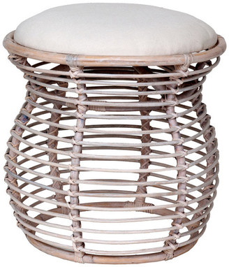 Off-White East At Main's Dickerson Rattan Stool