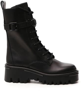 Valentino Campsite Lace-Up Combat Boots