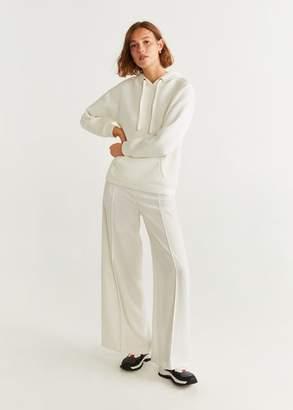 MANGO Kangaroo pocket hoodie off white - S - Women