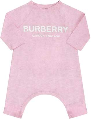 Burberry Pink Babyboy Set With White Logo