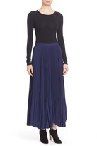 Theory Laire Winslow Crepe Pleat Maxi Skirt