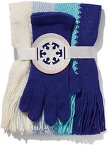 New York & Co. 2-Piece Colorblock Scarf & Gloves Set