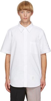 Thom Browne White Oxford Cloth 4-Bar Shirt