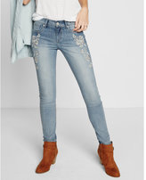 Express mid rise embroidered jean legging