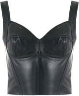 Andrea Bogosian leather crop top